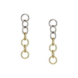 ケネスジェイレーン Kenneth Jay Lane レディース イヤリング・ピアス ジュエリー・アクセサリー【3' Rhodium/Gold Multi Circle Drop Post Earrings】Rhodium/Gold