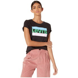 リーバイス Levi's Womens レディース Tシャツ トップス【The Perfect Tee】Sportswear Logo Meteorite