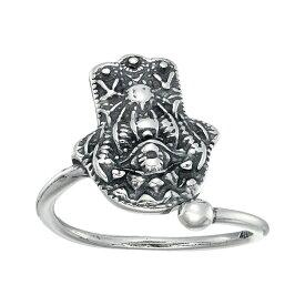 アレックス アンド アニ Alex and Ani レディース 指輪・リング ジュエリー・アクセサリー【Hand of Fatima Ring Wrap】Sterling Silver
