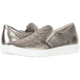 エコー ECCO レディース スリッポン・フラット シューズ・靴【Soft 7 Woven Slip-On】Warm Grey Cow Leather