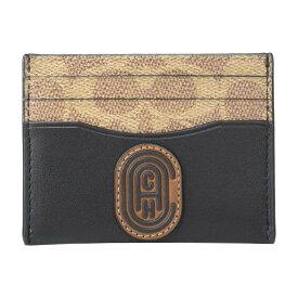 コーチ COACH メンズ カードケース・名刺入れ 【Card Case Retro C Patch in Leather】Black