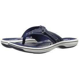 クラークス Clarks レディース ビーチサンダル シューズ・靴【Breeze Sea】Navy Synthetic