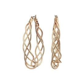 ケネスジェイレーン Kenneth Jay Lane レディース イヤリング・ピアス ジュエリー・アクセサリー【Polished Gold Triple Twist Hoop Post Earrings】Gold