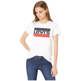 リーバイス Levi's Womens レディース Tシャツ トップス【Perfect Graphic Tee】Sportswear Logo White