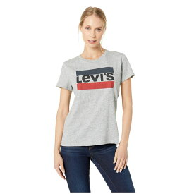 リーバイス Levi's Womens レディース Tシャツ トップス【Perfect Graphic Tee】Sportswear Logo Smokestack Heather