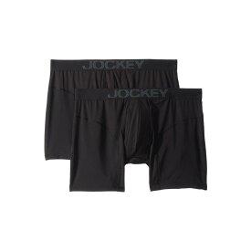 ジョッキー Jockey メンズ ボクサーパンツ 2点セット インナー・下着【Athletic Rapidcool Boxer Brief 2-Pack】Black