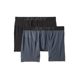 ジョッキー Jockey メンズ ボクサーパンツ 2点セット インナー・下着【Athletic Rapidcool Boxer Brief 2-Pack】Nerves of Steel Blue/Black