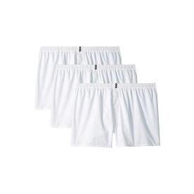 ジョッキー Jockey メンズ ボクサーパンツ 3点セット インナー・下着【Classic Wovens Full Cut Boxer 3-Pack】White