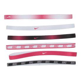 ナイキ Nike レディース ヘアアクセサリー 6点セット ヘッドバンド【Printed Headbands 6-Pack】Black/Rush Pink/White