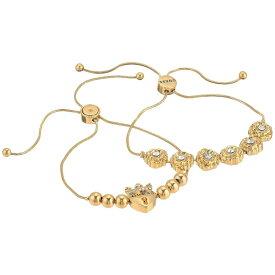 ゲス GUESS レディース ブレスレット ジュエリー・アクセサリー【Two-Piece Slider Close Dainty Bracelet Set】Gold