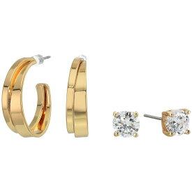 ゲス GUESS レディース イヤリング・ピアス ジュエリー・アクセサリー【Small CZ Stud and Hoop Earrings Set】Gold