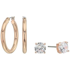 ゲス GUESS レディース イヤリング・ピアス ジュエリー・アクセサリー【Small CZ Stud and Hoop Earrings Set】Rose Gold