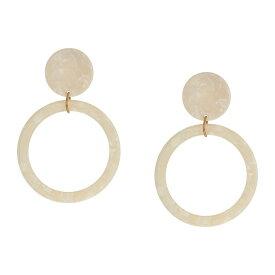 ケネスジェイレーン Kenneth Jay Lane レディース イヤリング・ピアス ジュエリー・アクセサリー【2.5' Ivory Circle Top w/ Gold Ring and Ivory Open Circle Drop Post Earrings】Ivory