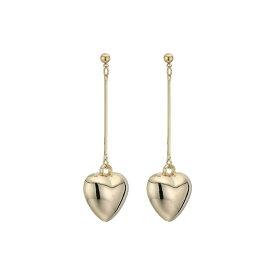 ケネスジェイレーン Kenneth Jay Lane レディース イヤリング・ピアス ハート ジュエリー・アクセサリー【2.5' Gold Bar with Heart Drop Post Earring】Gold