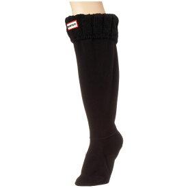 ハンター Hunter レディース ソックス インナー・下着【6 Stitch Cable Boot Sock】Black