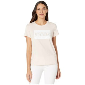 リーバイス Levi's Womens レディース Tシャツ トップス【The Perfect Tee】Sportswear Logo Peach Blush