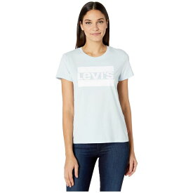 リーバイス Levi's Womens レディース Tシャツ トップス【The Perfect Tee】Sportswear Logo Baby Blue