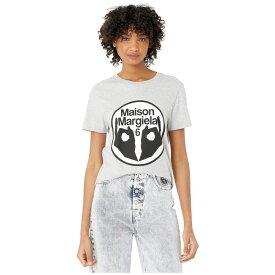メゾン マルジェラ MM6 Maison Margiela レディース Tシャツ トップス【Fitted 6 Hands Logo T-Shirt】Grey Melange
