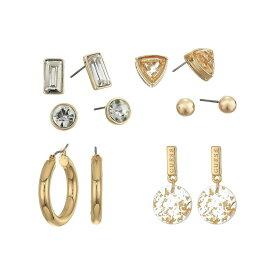 ゲス GUESS レディース イヤリング・ピアス ジュエリー・アクセサリー【6 On Stud Set with Dainty Drop and Hoop Earrings】Gold