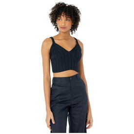 メゾン マルジェラ MM6 Maison Margiela レディース ニット・セーター トップス【Knit Cropped Sweater Cami】Navy