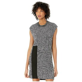 メゾン マルジェラ MM6 Maison Margiela レディース ワンピース ワンピース・ドレス【Intarsia Easy Sweater Dress】Black