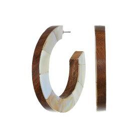 ケネスジェイレーン Kenneth Jay Lane レディース イヤリング・ピアス ジュエリー・アクセサリー【Wood/Mother-of-Pearl Double-Sided Hoop Earrings】Wood/Mother-of-Pearl