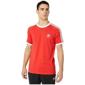 アディダス adidas Originals メンズ Tシャツ トップス【3-Stripes Tee】Lush Red