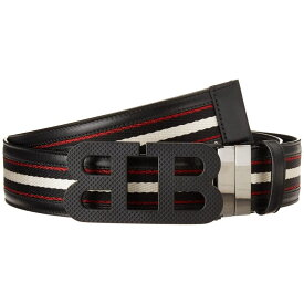 バリー Bally メンズ ベルト 【Mirror B 40 M.TSP/70 Belt】Black/Bone/Black/Red