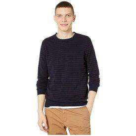 ジェイクルー J.Crew メンズ ニット・セーター トップス【Cotton-Cashmere Pique Line Stripe Crewneck Sweater】Stripe Navy