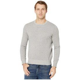 ジェイクルー J.Crew メンズ ニット・セーター トップス【Cotton-Cashmere Pique Line Stripe Crewneck Sweater】Stripe Heather Flannel