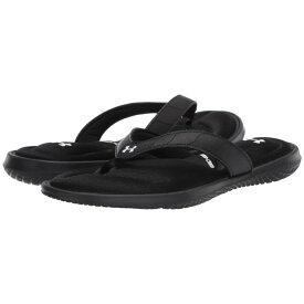 アンダーアーマー Under Armour レディース ビーチサンダル シューズ・靴【UA Marbella VII T】Black/White/White