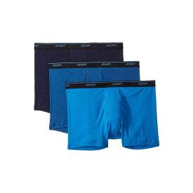 ジョッキー Jockey メンズ ボクサーパンツ 3点セット インナー・下着【Tailored Essentials Staycool+ Boxer Brief 3-Pack】True Navy/Mimas Blue/Royal Blue