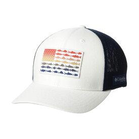 コロンビア Columbia レディース キャップ 帽子【PFG Mesh(TM) Fish Flag Ball Cap】White/Carbon/Red