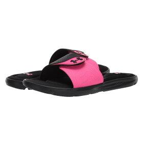 アンダーアーマー Under Armour レディース サンダル・ミュール シューズ・靴【UA Ignite IX SL】Black/Pink Surge/Pink Surge