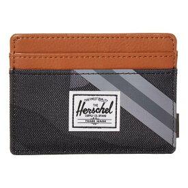 ハーシェル サプライ Herschel Supply Co. レディース カードケース・名刺入れ 【Charlie RFID】Night Camo/Synthetic Leather Stripe Grey/Black