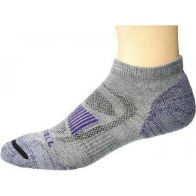 メレル Merrell レディース ソックス ショート インナー・下着【Merino Wool Cushioned Hiker Low Cut Socks 1-Pair】Grey Heather/Purple