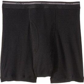 ジョッキー Jockey メンズ ボクサーパンツ インナー・下着【Classic Staynew Bonus Pack Full-Rise Boxer Brief (3-Pack + 1 Free)】Black