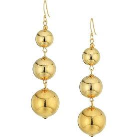 ケネスジェイレーン Kenneth Jay Lane レディース イヤリング・ピアス ジュエリー・アクセサリー【Polished Gold 3 Small To Large Bead Drop Fishhook Top Ear Earrings】Polished Gold