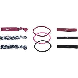 ナイキ Nike レディース ヘアアクセサリー 【Mixed Ponytail Holder 9-Pack】Villain Red/White/Black