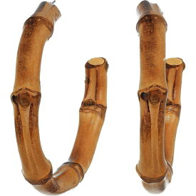 ケネスジェイレーン Kenneth Jay Lane レディース イヤリング・ピアス ジュエリー・アクセサリー【Tan Bamboo Hoop Pierced Earrings】Tan
