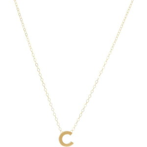 エイブル ABLE レディース ネックレス チャーム ジュエリー・アクセサリー【Letter Charm Necklace: C】Gold-Filled/Vermeil