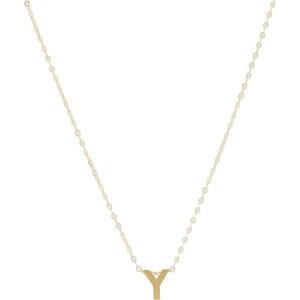 エイブル ABLE レディース ネックレス チャーム ジュエリー・アクセサリー【Letter Charm Necklace: Y】Gold-Filled/Vermeil