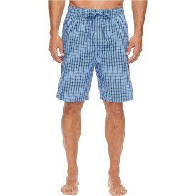 ノーティカ Nautica メンズ パジャマ・ボトムのみ ショートパンツ インナー・下着【Plaid Sleep Shorts】Light French Blue