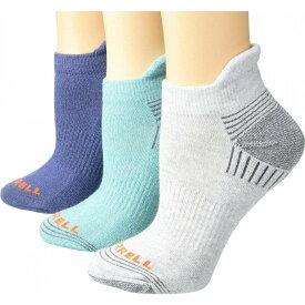 メレル Merrell レディース ソックス ショート インナー・下着【Repreve Cushioned Low Cut Tab Socks 3-Pair】Ceramic Marl/Grey Heather/Blue Marl