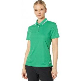 ナイキ Nike Golf レディース ポロシャツ 半袖 トップス【Dry Victory Polo Short Sleeve Solid】Classic Green/White/White