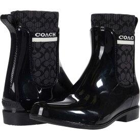 コーチ COACH レディース レインシューズ・長靴 シューズ・靴【Rivington Rain Bootie】Black Rubber