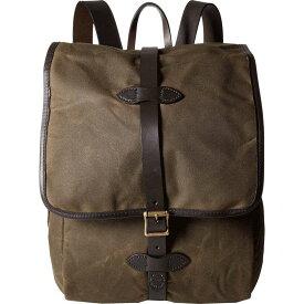 フィルソン Filson レディース バックパック・リュック バッグ【Tin Cloth Backpack】Otter Green