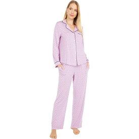 ケイト スペード Kate Spade New York レディース パジャマ・上下セット インナー・下着【Modal Jersey Notch Collar Long Pajama Set】Dotty Stripe