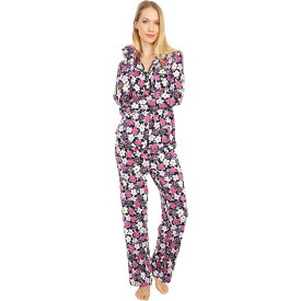 ケイト スペード Kate Spade New York レディース パジャマ・上下セット インナー・下着【Modal Jersey Notch Collar Long Pajama Set】Painted Pansy