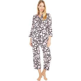 ケイト スペード Kate Spade New York レディース パジャマ・上下セット インナー・下着【Charmeuse Cropped Pajama Set】Spade Clover Hearts